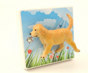 Decorative Summertime Golden Retriever Puppy Dog Nursery Bedroom Light Switch