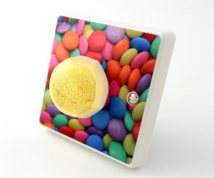 Candy Queen Limited Edition Light Switch With Yellow Liquorice Allsort - British Made & Handmade