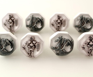 Knights and Dragons Cupboard Knobs Furniture Drawer Knobs