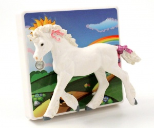 Rainbow Light Switch with Unicorn for Children´s Bedrooms or the Nursery British Made