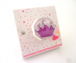 Girls Fairy Princess Themed Bedroom Decorative Designer Light Switch British Made & Handmade