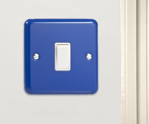 Reflex Blue Rocker Light Switch 1 Gang 10A 1 or 2 Way CQ XY1W.RB Made in the UK
