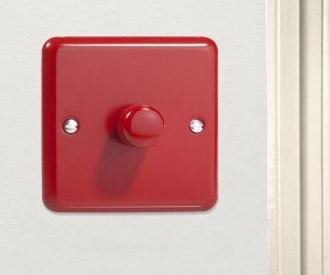 *SALE* - 2 ONLY - Pillar Box Red Dimmer Switch HY3.PR Varilight