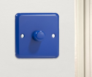 Royal Reflex Blue Designer Dimmer Switch Made in the UK HY3.RB Varilight V-Dim Series 1 Gang, 1 or 2 way 400 Watt Dimmer Switch