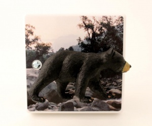 Black Bear Light Switch for a Modern Lounge or Themed Bedrooms