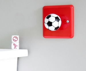 Football Bedroom Decor Decorative Football Light Switch Made in the UK Decorative Dimmer Switch for a football themed bedroom