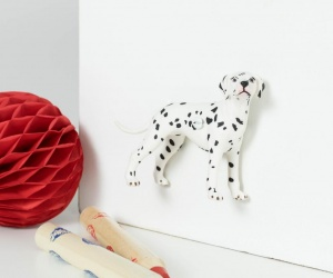 Dalmatian Dog Drawer Knob, Furniture Knob