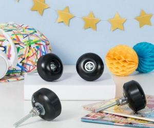 Skateboard Themed Bedroom Cupboard Knobs Set of Four