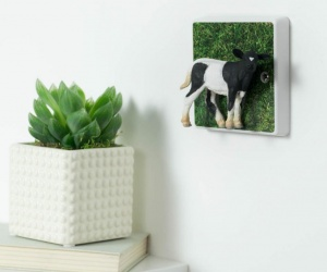 Decorative Cow Dimmer Light Switch for Children´s Farm Themed Bedrooms