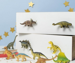 Ten Dinosaur Bedroom Cupboard Knobs - Dinosaur Themed Bedroom Drawer Knobs For Children´s Dinosaur Bedrooms