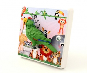 Decorative Parrot Light Switch For Children´s Jungle Themed Bedrooms