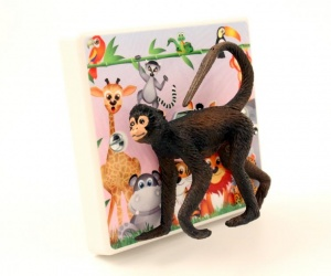 Decorative Light Switch For Children´s Safari Themed Bedrooms with Cheeky Monkey