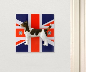 Jack Russell Union Jack Novelty Decorative Light Switch