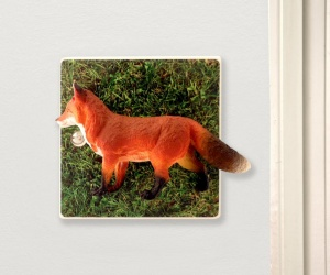 Decorative Candy Queen light switch with a crafty Fox in a field perfect for a Woodland Themed Bedroom