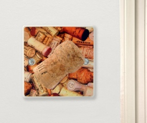 British Made Champagne Corks Celebration Kitchen Light Switch Gift Made in the UK