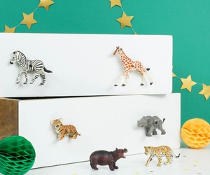 Safari Animal Drawer & Cupboard Knobs ~ Set of 6 Safari Animals ~ for Children´s Jungle Themed Bedroom