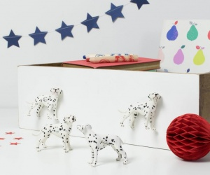 Dog Drawer Knobs Dalmatian Dog Furniture Knobs ~ Set of Four