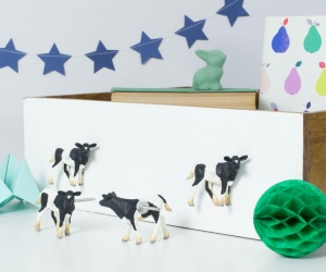 Cow Drawer Knobs Farm Yard Furniture Knobs ~ Set of Four