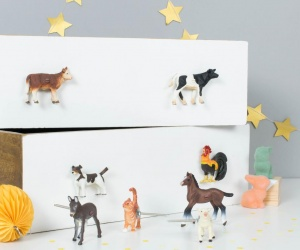 Farm Animal Cupboard & Drawer Knobs - Set of Eight Farm Animals