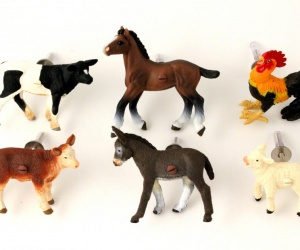 Farm Animal Drawer & Cupboard Knobs ~ Six Farm Animal Furniture Knobs