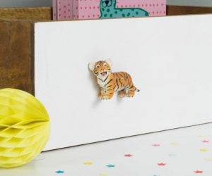 Circus Themed Bedroom Tiger Cub Cupboard or Drawer Knob