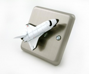 Space Shuttle Rocket Light Switch For Space Themed Children´s Bedrooms