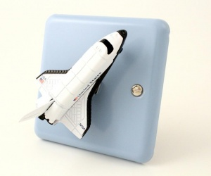 Outer Space Light Switch - Space Rocket Light Switch for Outer Space Themed Bedroom