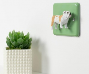 Decorative Light Switch with British Bulldog - Unique Bulldog Gift
