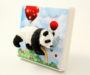 *SALE* - Panda Nursery Decor - Panda Light Switch for Nurseries or Children´s Bedroom