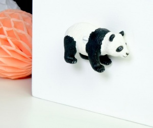 Childrens Jungle Themed Bedroom Panda Cupboard Knob