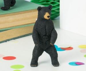 BIG Bear Cabinet Knob ~ Black Bear Standing On Two Legs