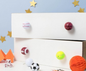 Sports Ball Furniture Knob ~ Single ~ Your choice of design ~ Seven to choose from