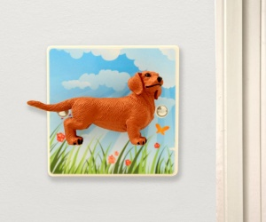 Dachshund Dog Light Switch - Decorative Dimmer Light Switch with Sausage Dog