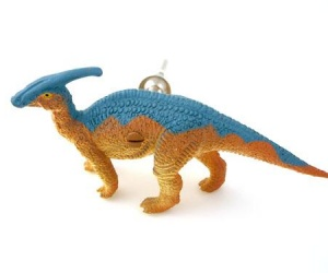 Childrens Dinosaur Cupboard Knob - Parasaurolophus Dinosaur for a Dinosaur Themed Bedroom