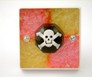 Skull and Crossbones Battenburg Cake Light Switch British Made & Handmade