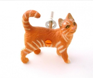 Cat Cupboard Pull Furniture Knob