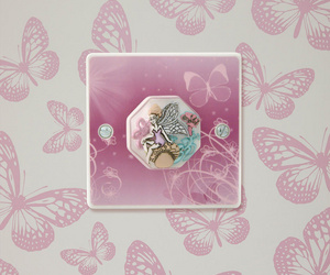 Girls Lilac Butterfly and Fairy Princess Light Switch
