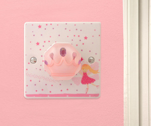 Pink Princess Fairy Light Switch by Candy Queen Designs