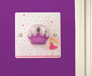 Purple Princess Crown Fairy Light Switch by Candy Queen