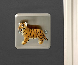 Brushed Chrome Decorative Light Switch by Candy Queen
