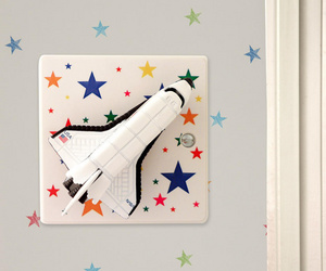 Space Shuttle Light Switch for Space Themed Boys Bedrooms