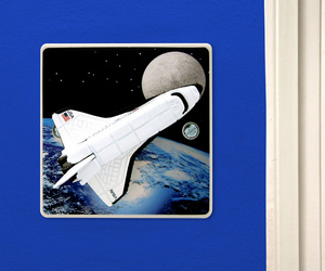 Space Light Switch for Boys Space Rocket Themed Bedrooom